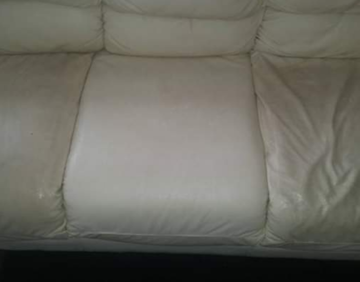 Leather Sofa - Before & After
